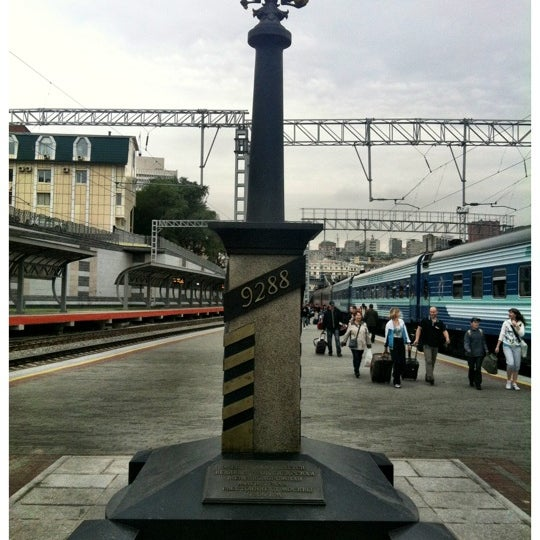 Photo taken at Железнодорожный вокзал Владивостока / Vladivostok Railway Station by Guilherme B. on 8/1/2012
