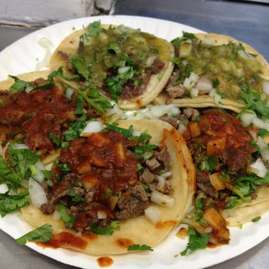 Photo taken at Javier's Tacos Mexico by Jeanne K. on 2/20/2012