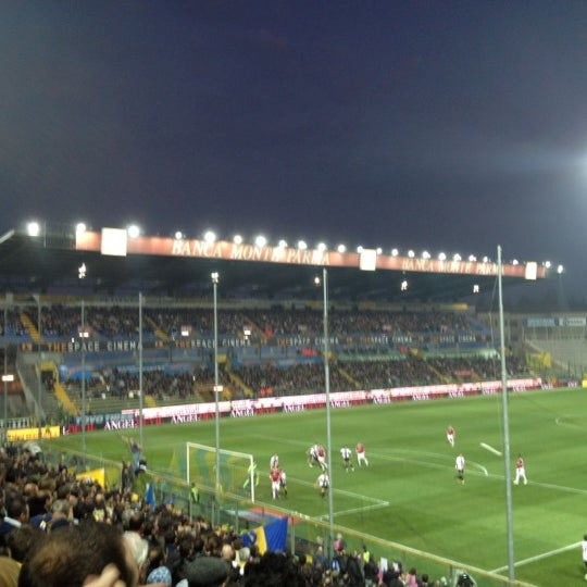 Photo taken at Stadio Ennio Tardini by Roberto I. on 3/17/2012