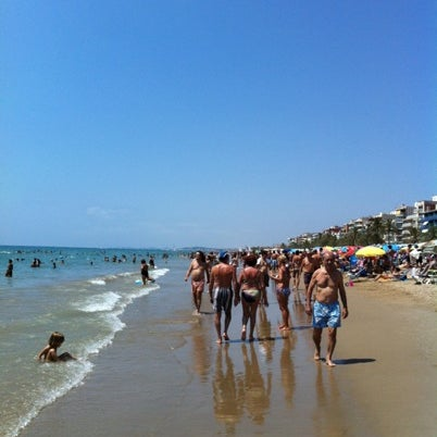 Photo taken at Platja de Calafell by Alfredo C. on 7/29/2012