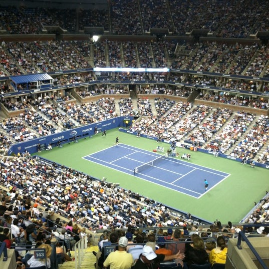 Photo taken at US Open Tennis Championships by Brandon G. on 8/28/2012