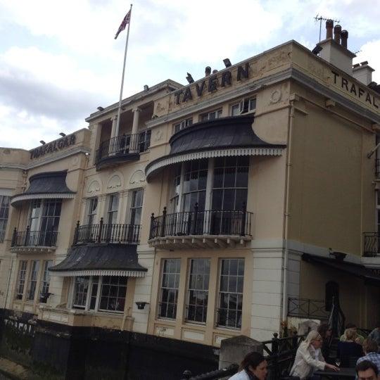 Photo taken at Trafalgar Tavern by Richard on 6/23/2012