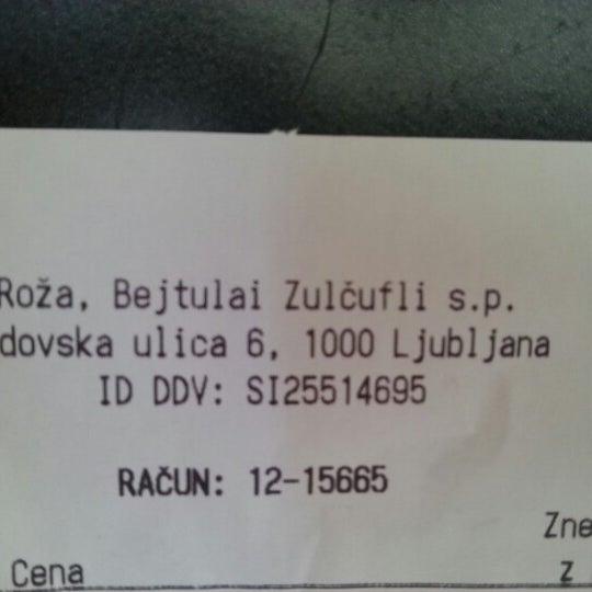 Photo taken at Roža by ɐſʇıɯ ɹ. on 8/21/2012