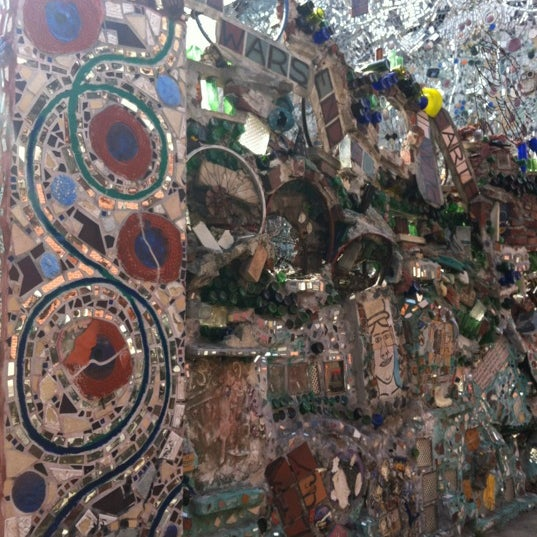 Photo taken at Philadelphia's Magic Gardens by Ana C. on 3/15/2012