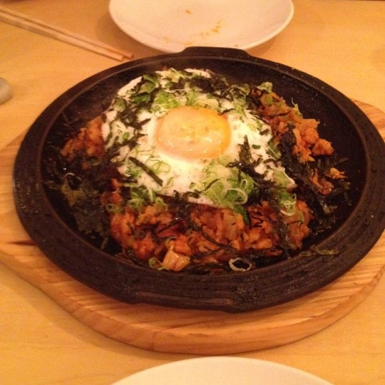 Get the Spicy Ginger Margarita and Kimchee bacon paella (with the egg of course)