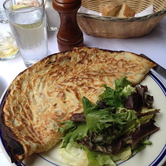 Photo taken at La Bonne Soupe by Andrew L. on 7/21/2012