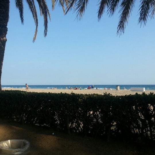 Photo taken at Platja de Calafell by Òscar O. on 9/5/2012