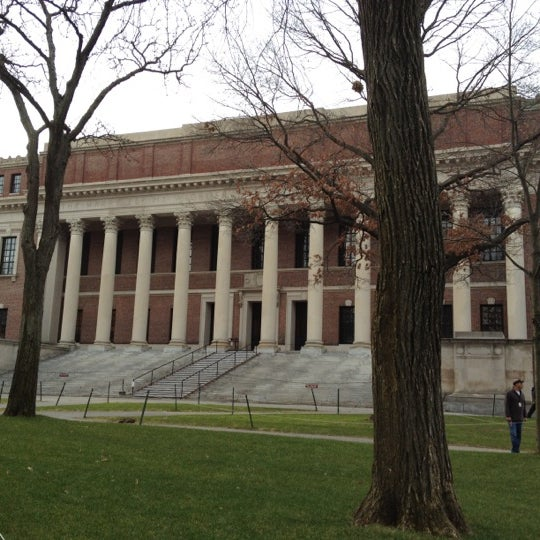 Photo taken at Widener Library by Henry X. on 2/2/2012