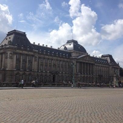 Photo taken at Paleizenplein / Place des Palais by Glaucia C. on 8/4/2012