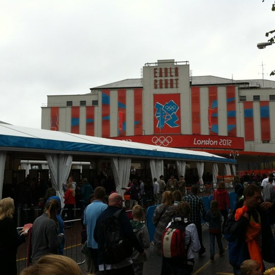 Photo taken at Earls Court Exhibition Centre by Marieke E. on 7/31/2012