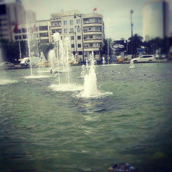 Photo taken at Avenue Habib Bourguiba by Charfeddine R. on 6/12/2012