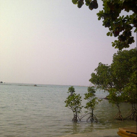 Photo taken at Pulau Pramuka by anton m. on 7/11/2012