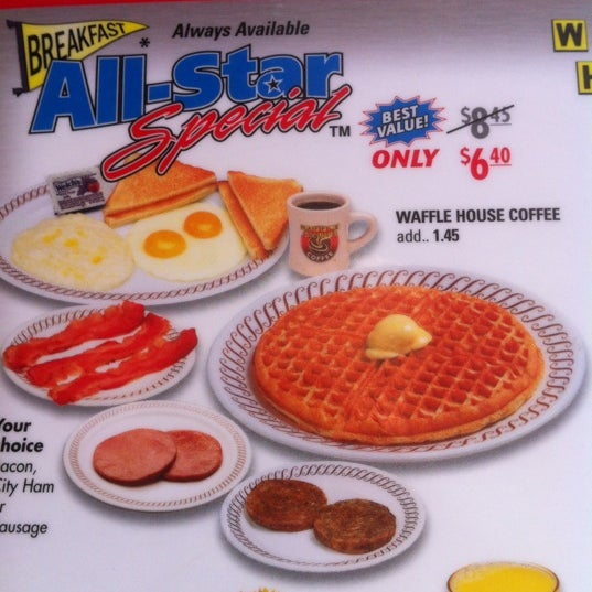 Photo taken at Waffle House by Chad W. on 4/7/2012