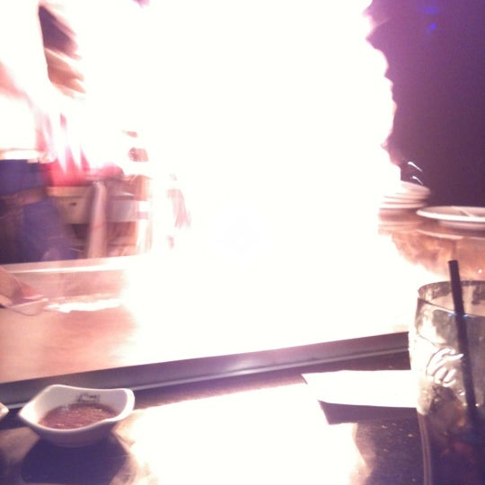 Photo taken at Aomi Japanese Steakhouse by Jessica B. on 4/25/2012