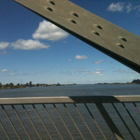 Photo taken at Rio Vista Bridge by Ron D. on 4/14/2012