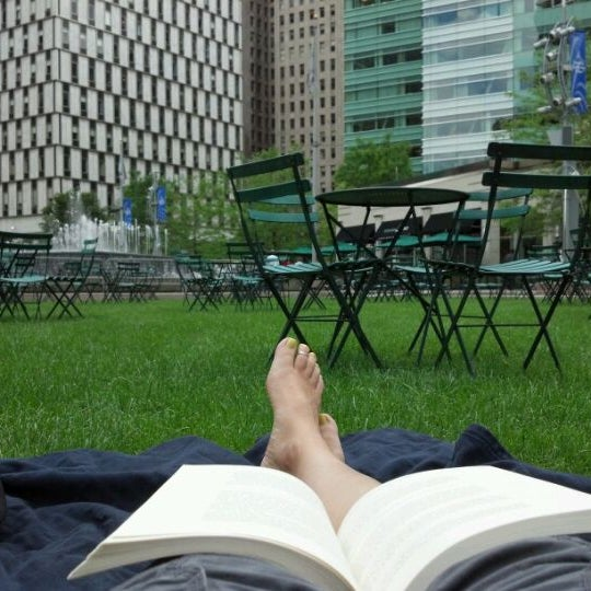 Photo taken at Campus Martius by Jennifer S. on 6/3/2012