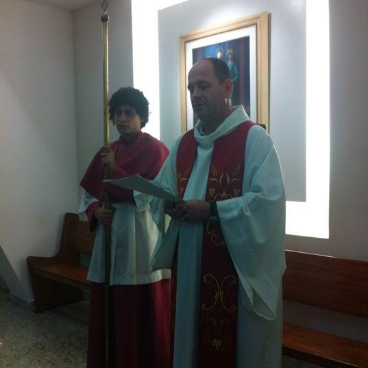 Photo taken at Paróquia Santa Mônica by Simone P. on 4/6/2012