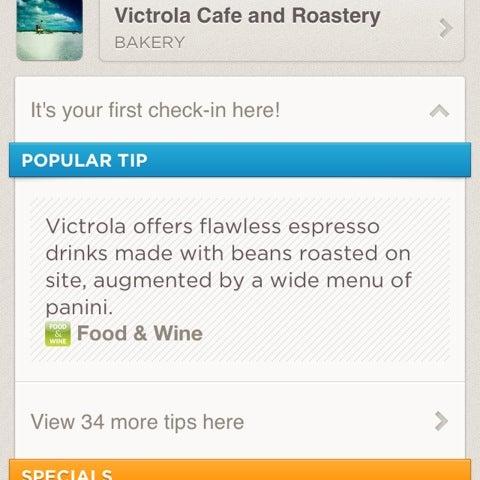 Photo taken at Victrola Cafe and Roastery by Ovi V. on 9/8/2012