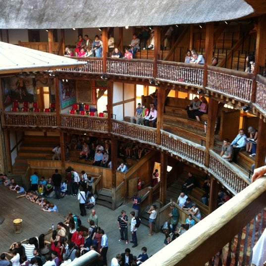 Photo taken at Shakespeare's Globe Theatre by Berkay U. on 6/28/2012