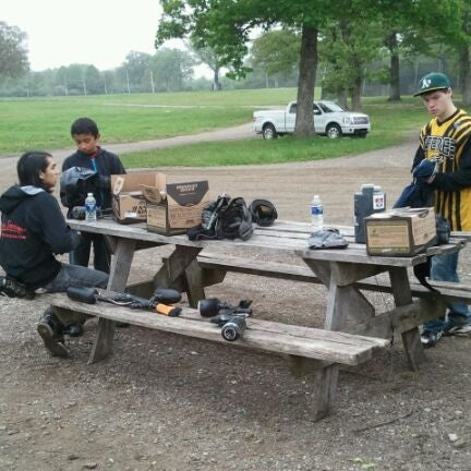 Photo taken at Badlandz Paintball Field by Bill G. on 5/5/2012