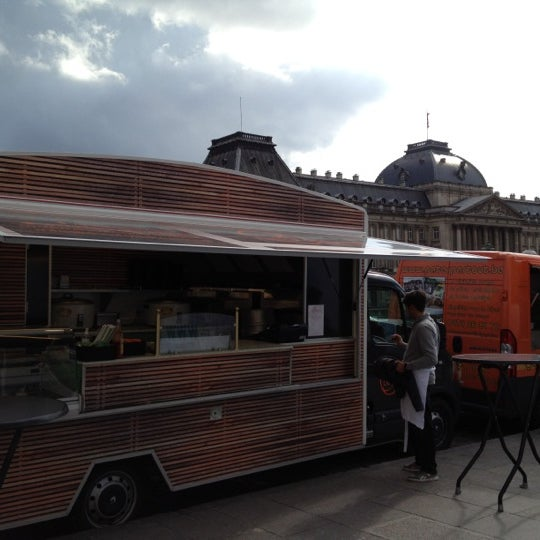 Photo taken at Paleizenplein / Place des Palais by Cedric A. on 6/8/2012