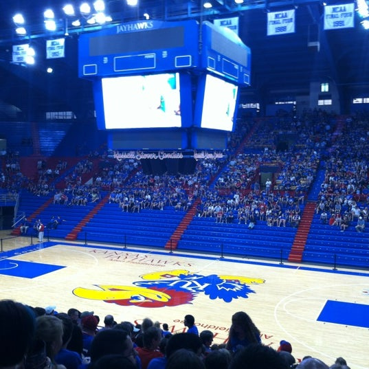 Photo taken at Allen Fieldhouse by Christopher A. on 4/1/2012