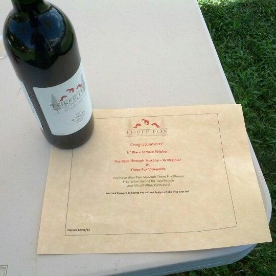 Photo taken at Three Fox Vineyards by Jeremy B. on 7/29/2012