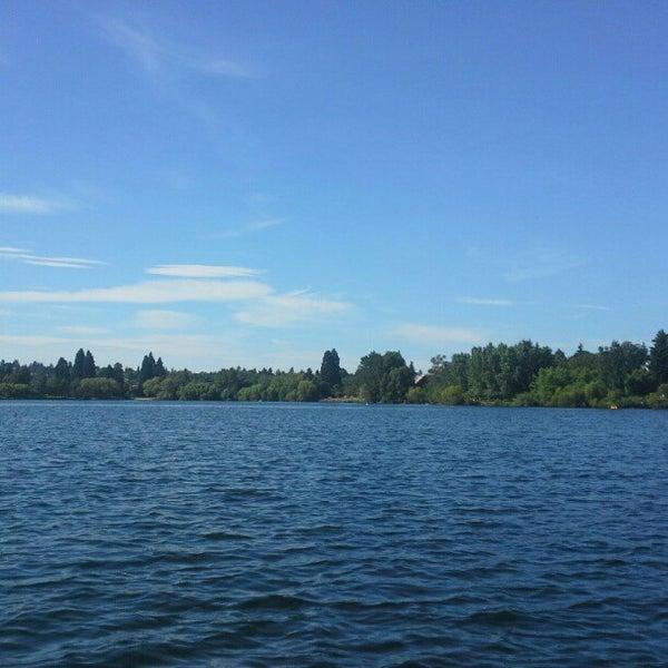 Photo taken at Green Lake Boathouse by Scott S. on 8/2/2012
