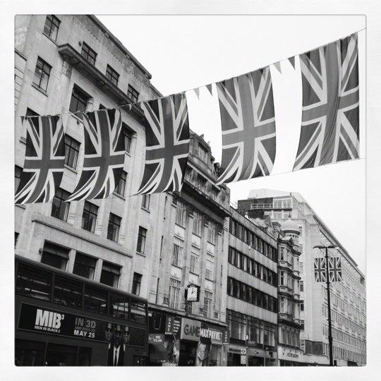 Photo taken at Oxford Street by Martin W. on 5/21/2012