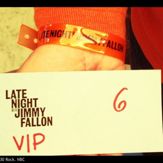 Photo taken at Late Night with Jimmy Fallon by Jeff W. on 2/20/2012