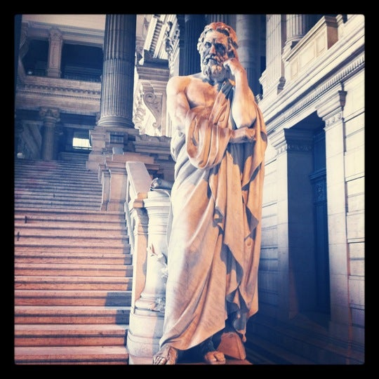 Photo taken at Justitiepaleis / Palais de Justice by geert v. on 6/19/2012