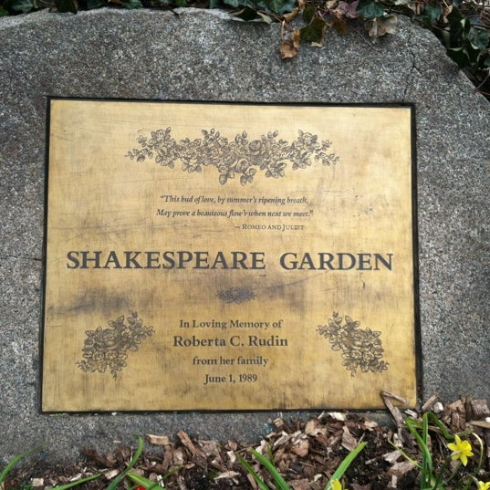 Shakespeare Garden Central Park 20 Tips
