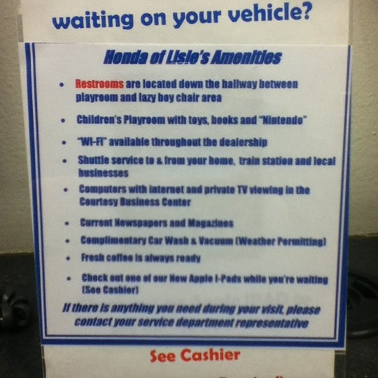Photo Taken At Honda Superstore Of Lisle By Gabriel H. On 4/9/