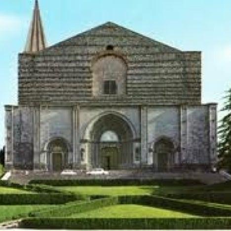 Photo taken at Basilica di San Fortunato by Giuliano I. on 9/1/2012