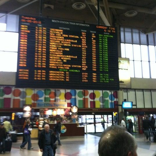 Photo taken at South Station Terminal (MBTA / Amtrak) by Paul B. on 6/5/2012