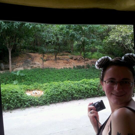 Photo taken at Xiang Jiang Safari Park, Guangzhou by Christy P. on 6/9/2012