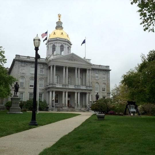 Photo taken at New Hampshire State House by Adam M. on 5/4/2012