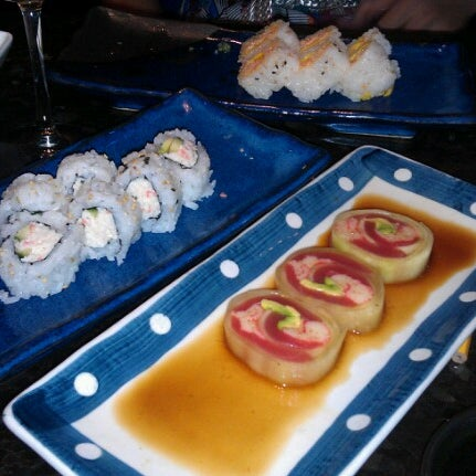 Photo taken at Blue Wasabi Sushi & Martini Bar by Jessica A. on 6/18/2012