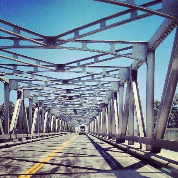 Photo taken at Rio Vista Bridge by Tom C. on 5/20/2012
