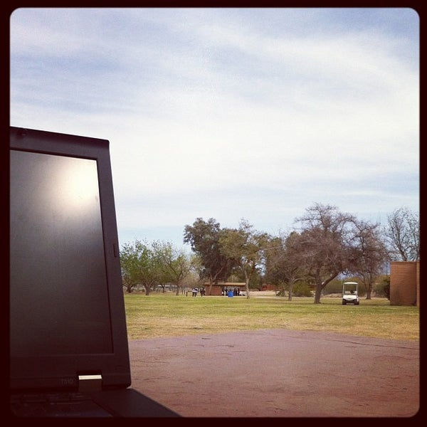 Photo taken at Ft Lowell Park by Aaron E. on 3/17/2012