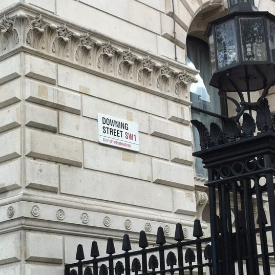 Photo taken at 10 Downing Street by Jaeho C. on 4/22/2012