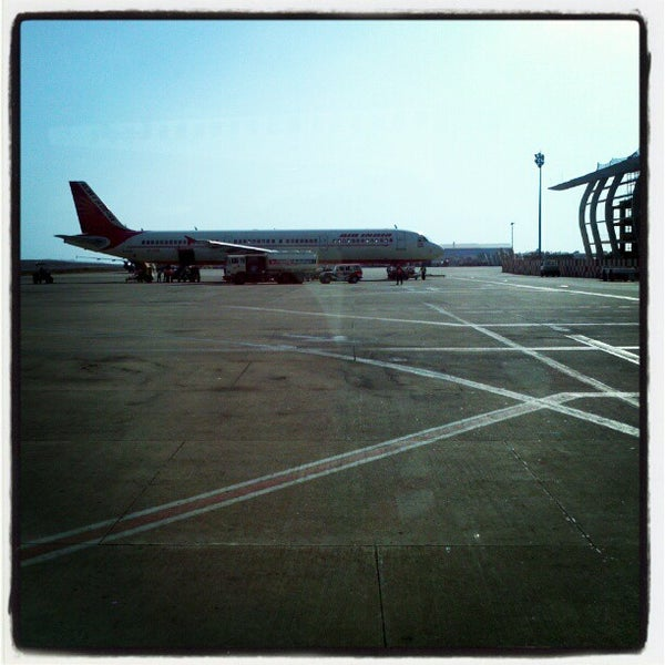Photo taken at Goa International Airport / Dabolim Airport (GOI) by Schmmuck on 5/6/2012
