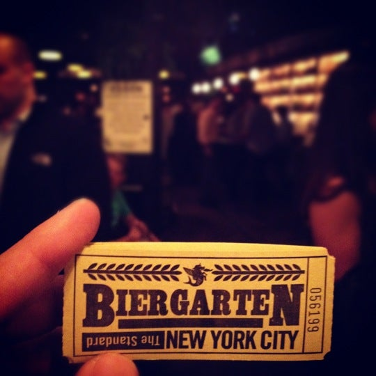 Photo taken at The Biergarten at The Standard by Charles-Edward M. on 5/23/2012