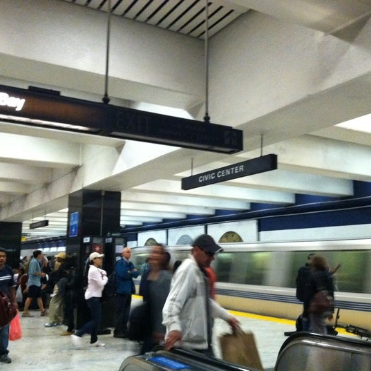 Photo taken at Civic Center/UN Plaza BART Station by Christina H. on 7/12/2012