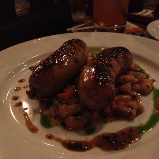 The brats and white beans: Fabulous. Also, best Manhattan in the city.