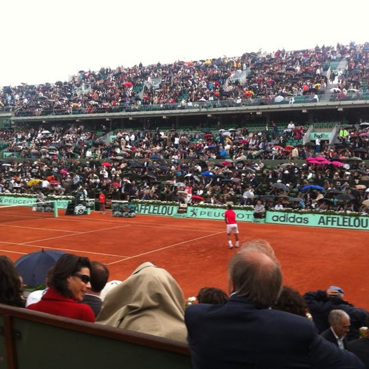 Photo taken at Stade Roland Garros by Lola Z. on 6/6/2012