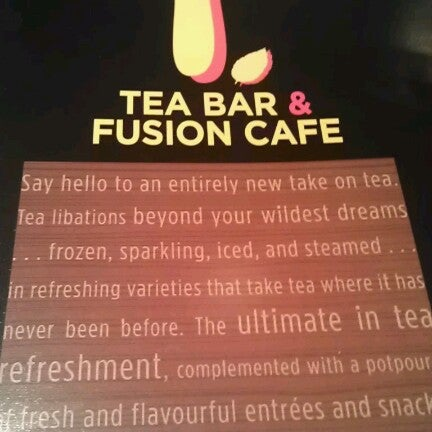 Photo taken at T. Tea Bar & Fusion Cafe by Marlon C. on 9/9/2012