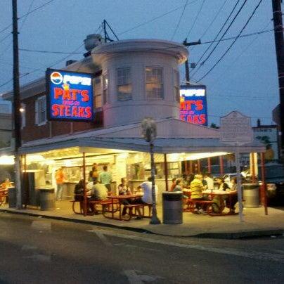 Photo taken at Pat's King of Steaks by Ryan S. on 5/14/2012