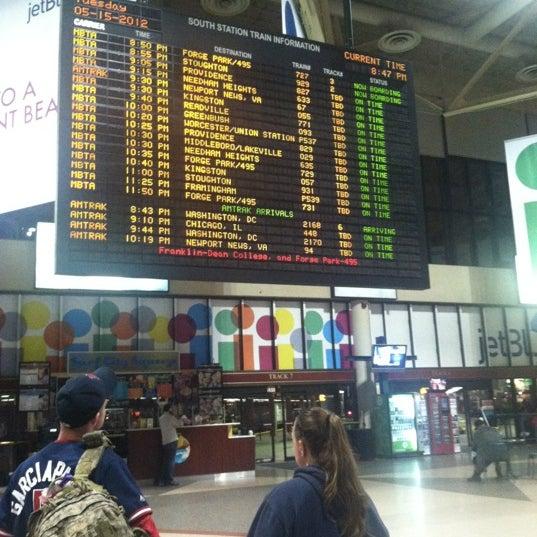 Photo taken at South Station Terminal (MBTA / Amtrak) by Laura C. on 5/16/2012