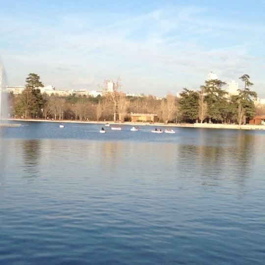 Photo taken at Lago de la Casa de Campo by Iván V. on 2/25/2012
